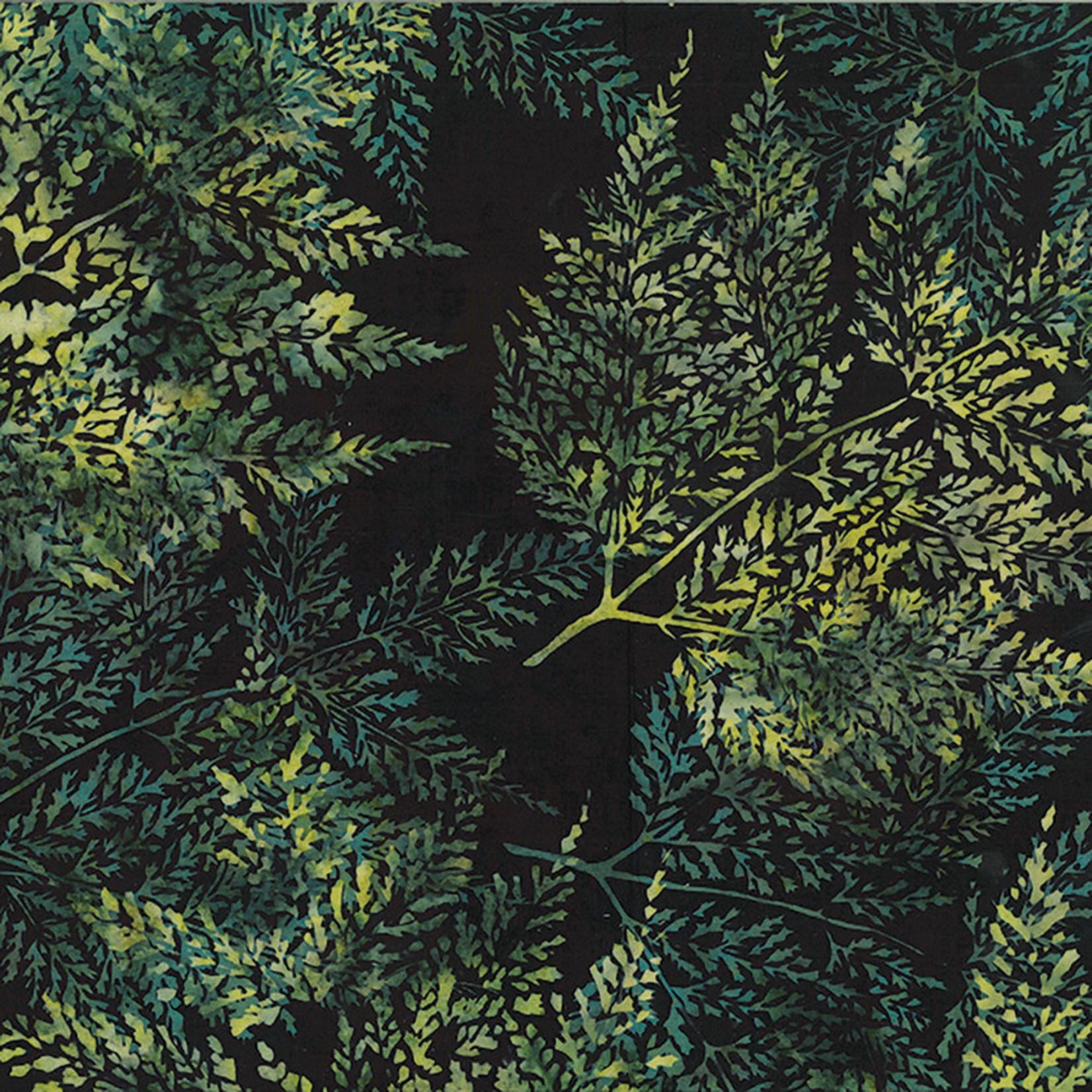 Hoffman Fabrics Bali Batik Skeleton Leaves - Stone Green