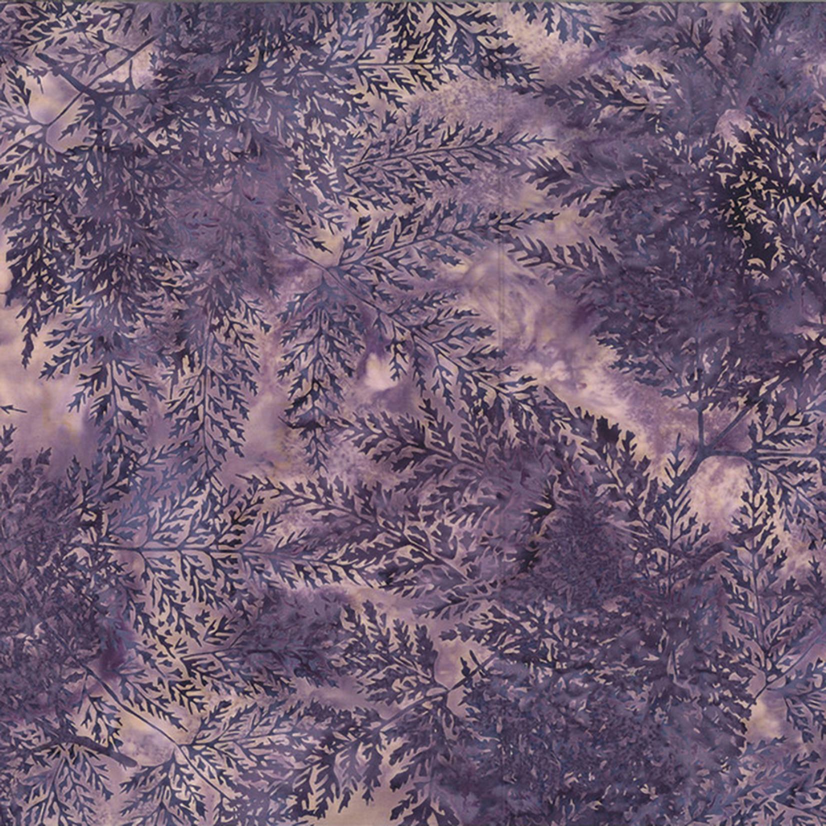 Hoffman Fabrics Bali Batik Skeleton Leaves - Lavender