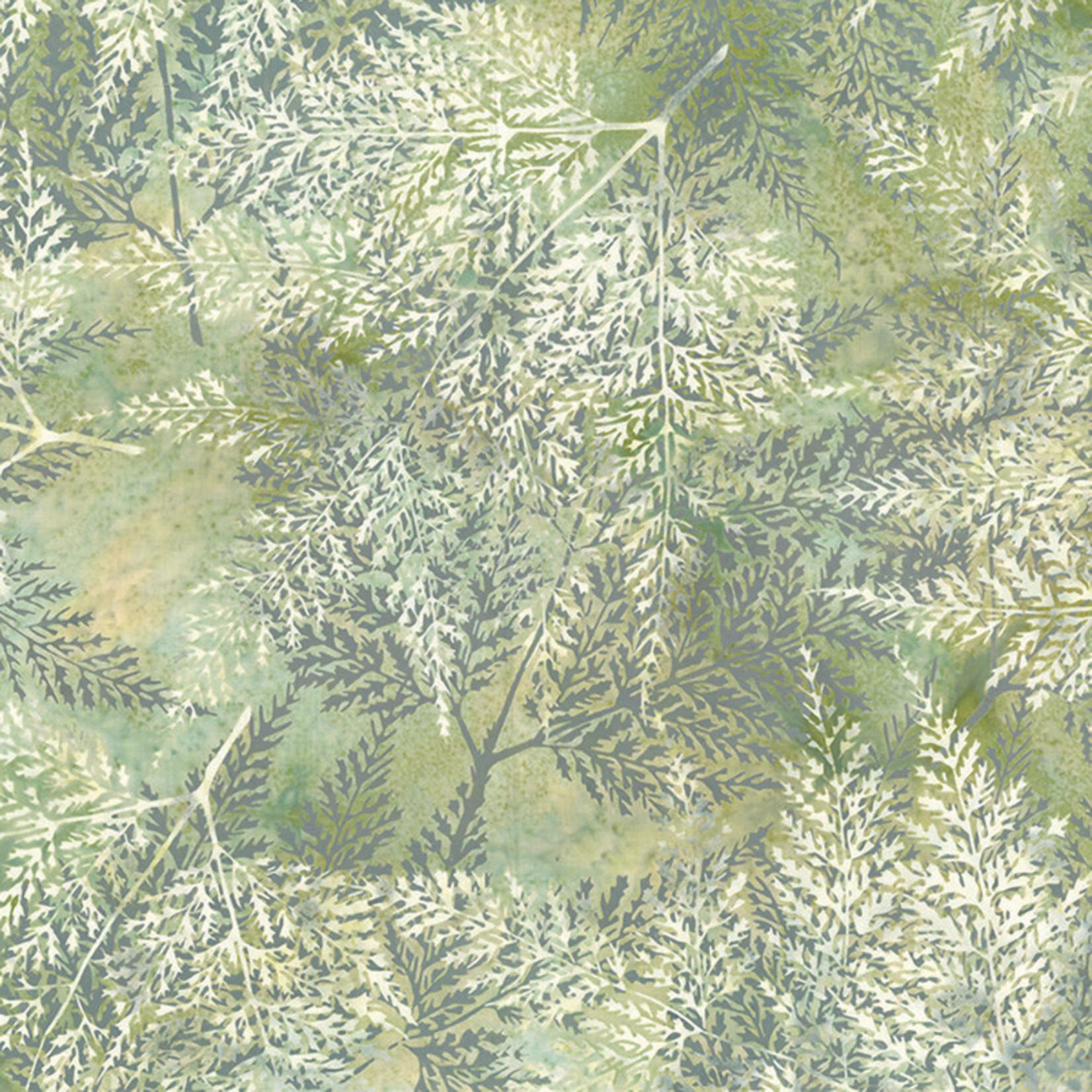 Hoffman Fabrics Bali Batik Skeleton Leaves - Alabaster