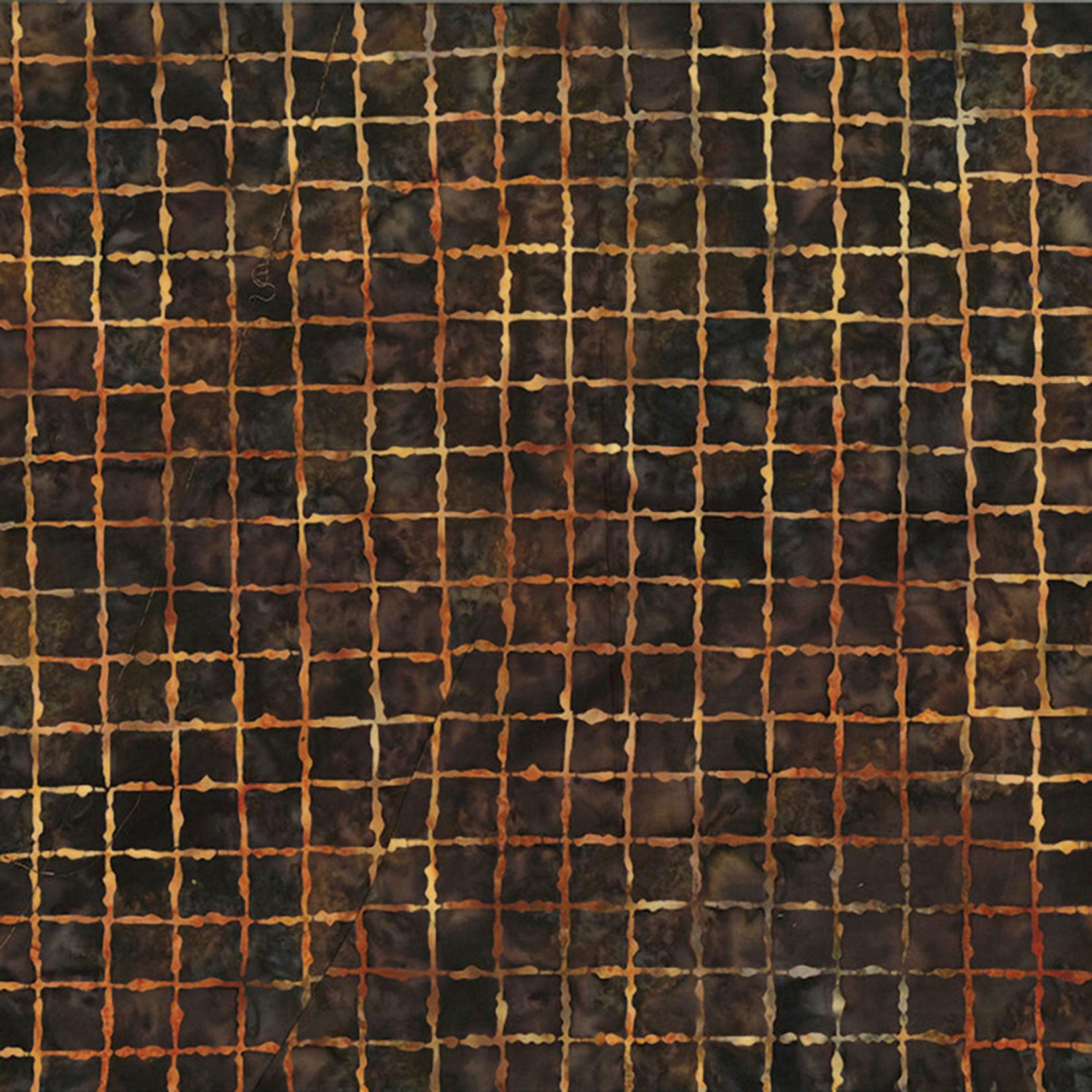 Hoffman Fabrics Bali Batik Grid 2195 - 180 Walnut