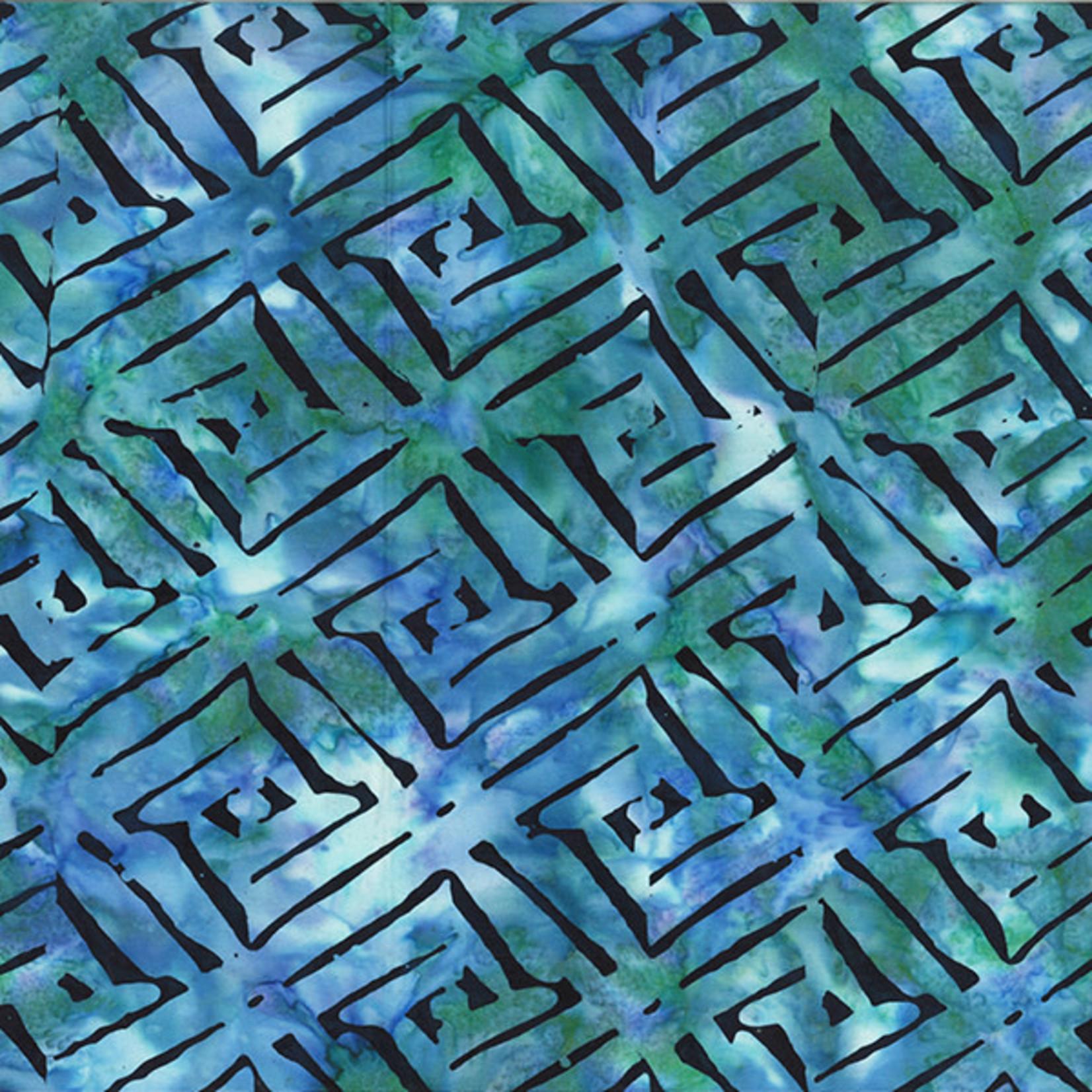 Hoffman Fabrics Bali Batik Diagonal - Jade