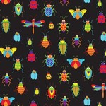 Nutex Bugs & Critters - Allover - Black