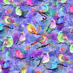 P&B Textiles Awakening - Birds - Multi