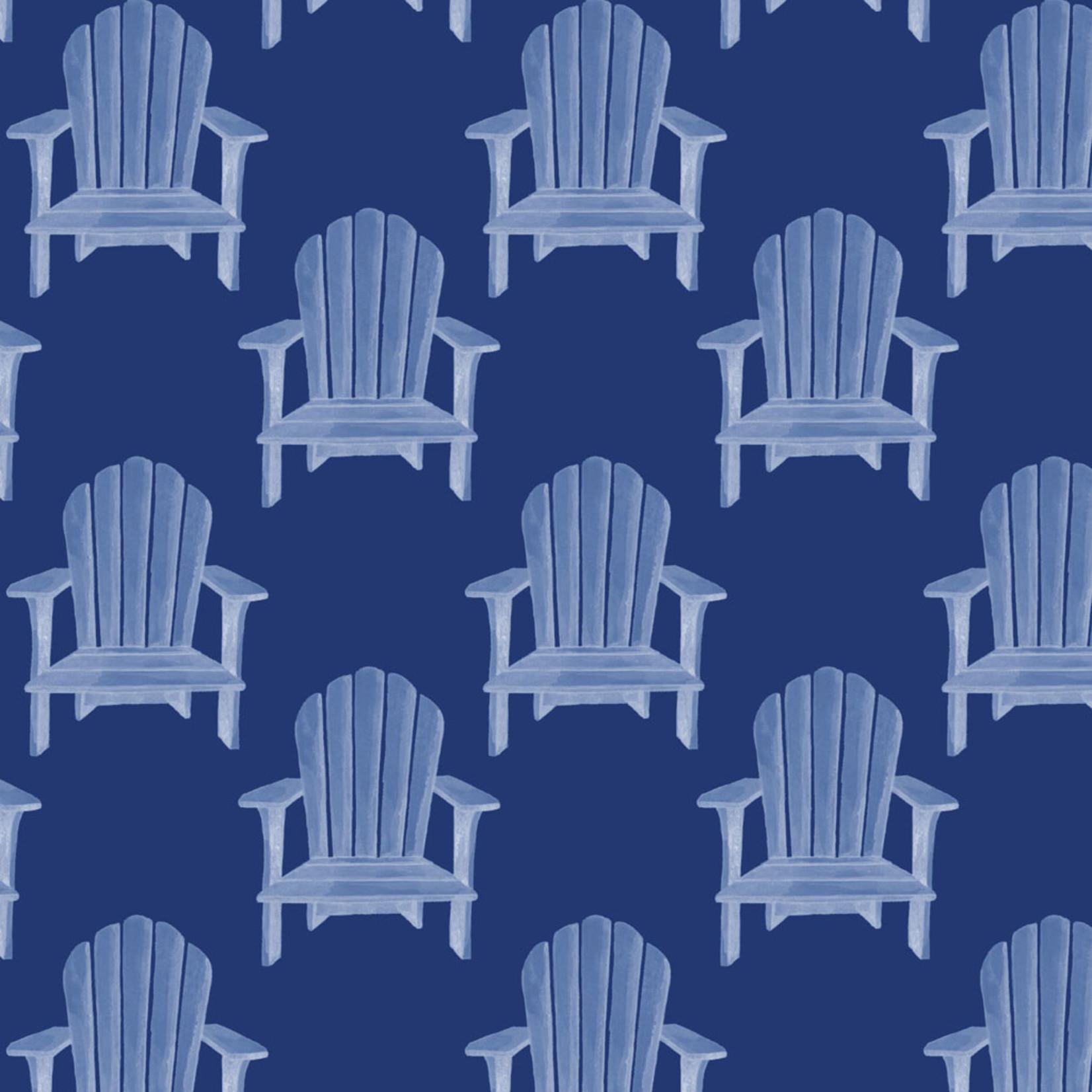 P&B Textiles Hot Dog - Strand Stoelen - Blue