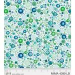 P&B Textiles Mindful Mandalas - Pebbles - Light Blue