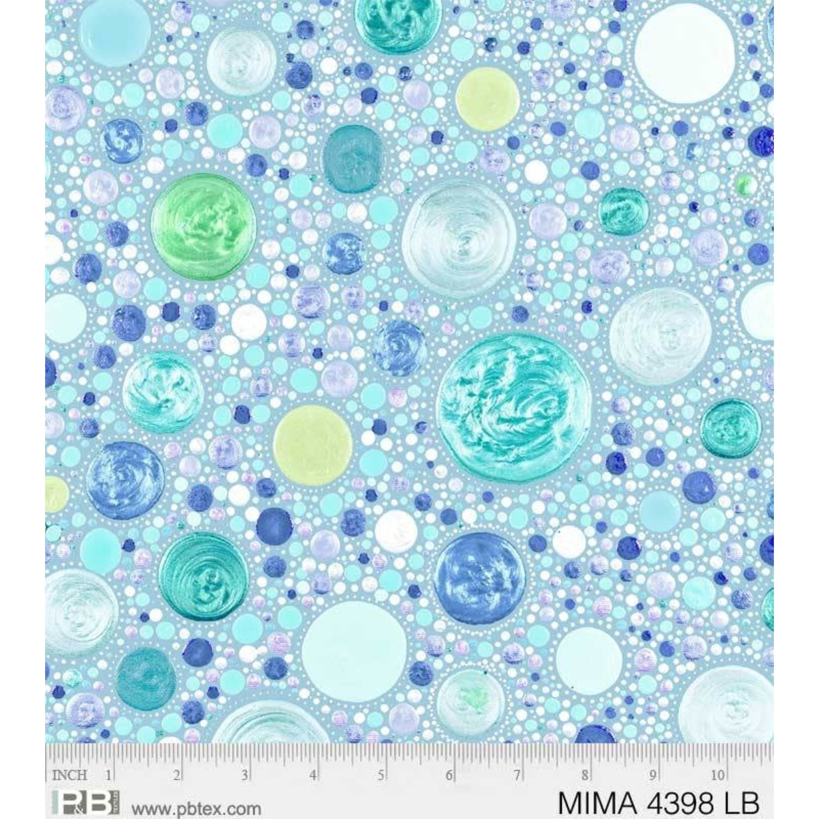 P&B Textiles Mindful Mandalas - Stones - Light Blue