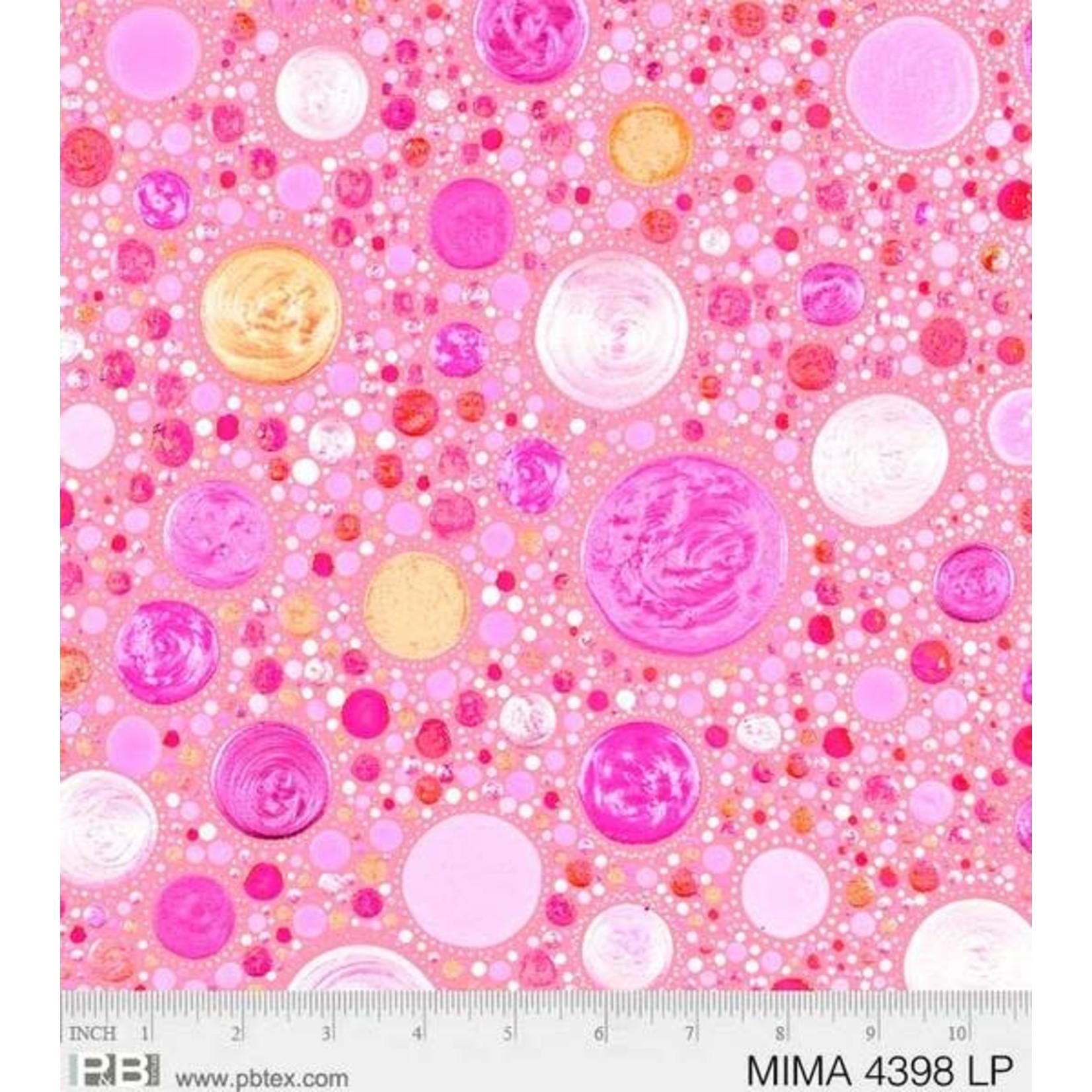 P&B Textiles Mindful Mandalas - Stones - Pink