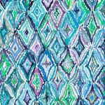 QT Fabrics In The Grove - Diamonds - Blue