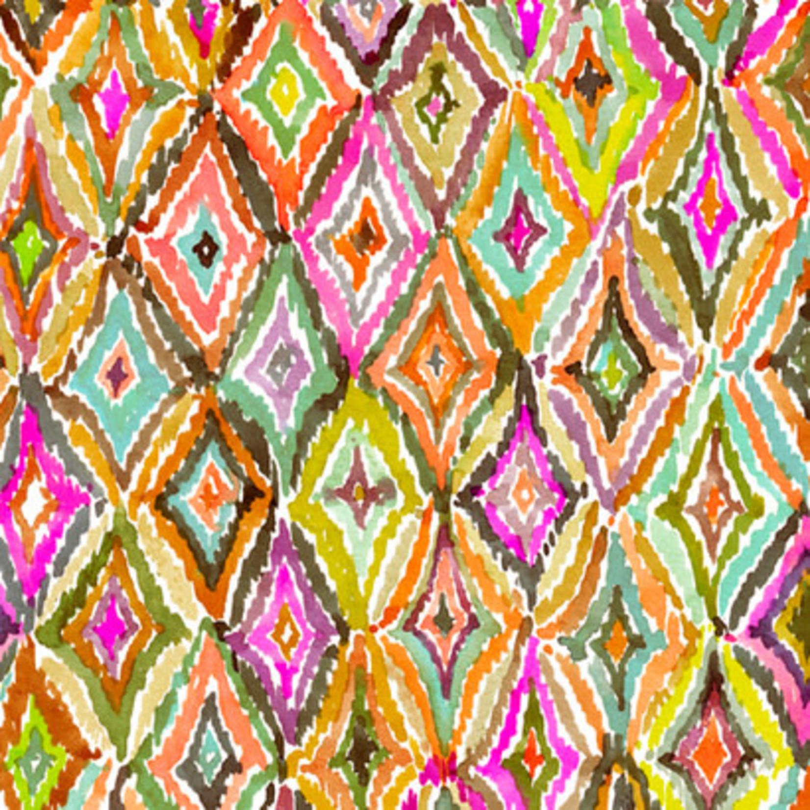 QT Fabrics In The Grove - Diamonds - Yellow