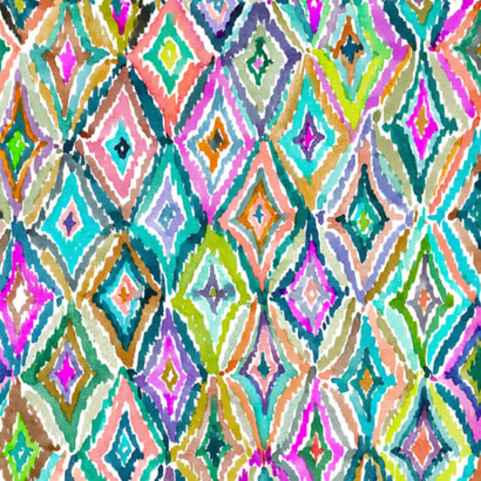 QT Fabrics In The Grove - Diamonds - Multi