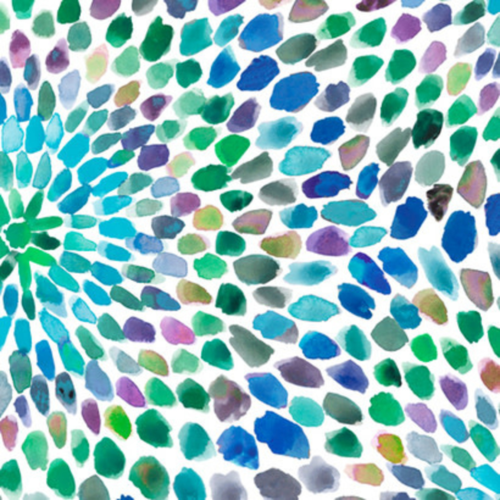 QT Fabrics In The Grove - Flower - Blue