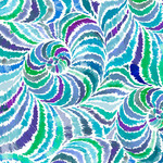 QT Fabrics In The Grove - Spiral - Blue