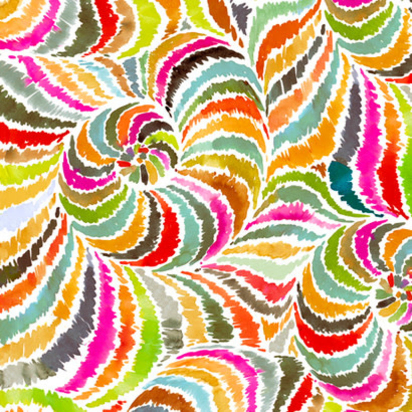 QT Fabrics In The Grove - Spiral - Yellow