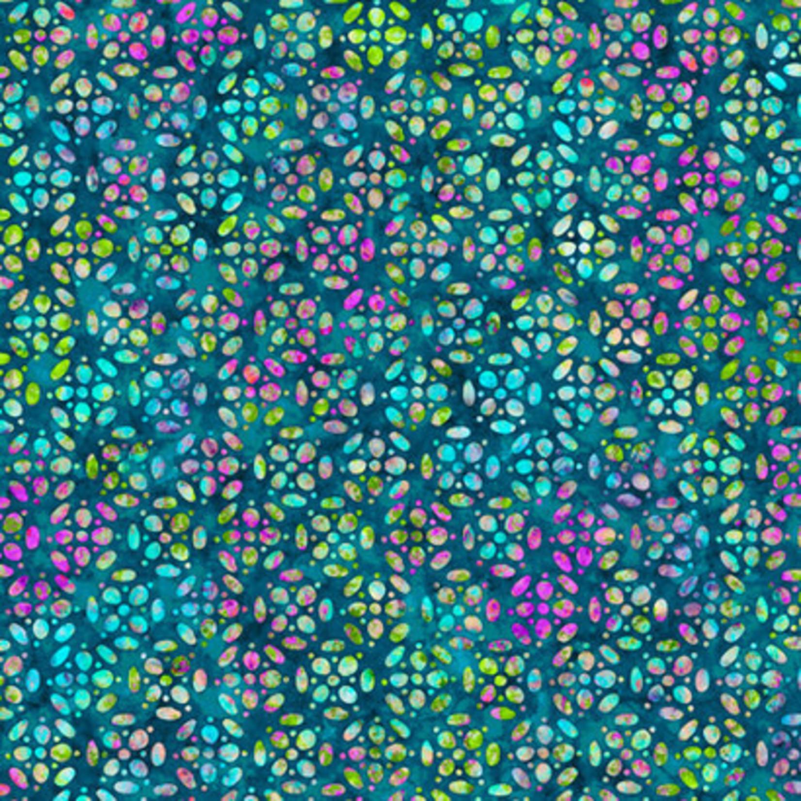 QT Fabrics Kashmir - Tiles - Blue