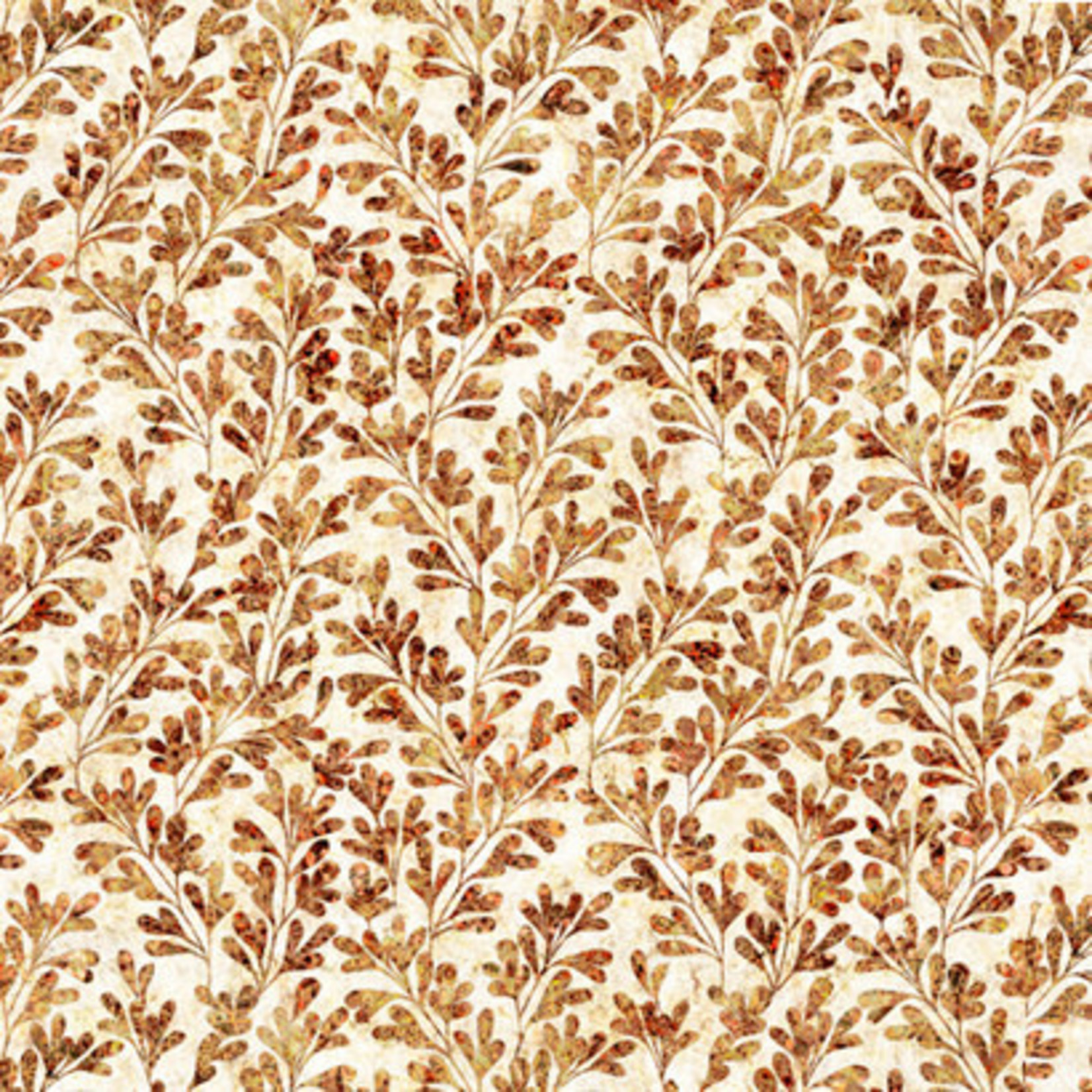 QT Fabrics Kashmir - Vines - Cream