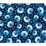 QT Fabrics Kenzie - Tossed Blooms - Dark Blue