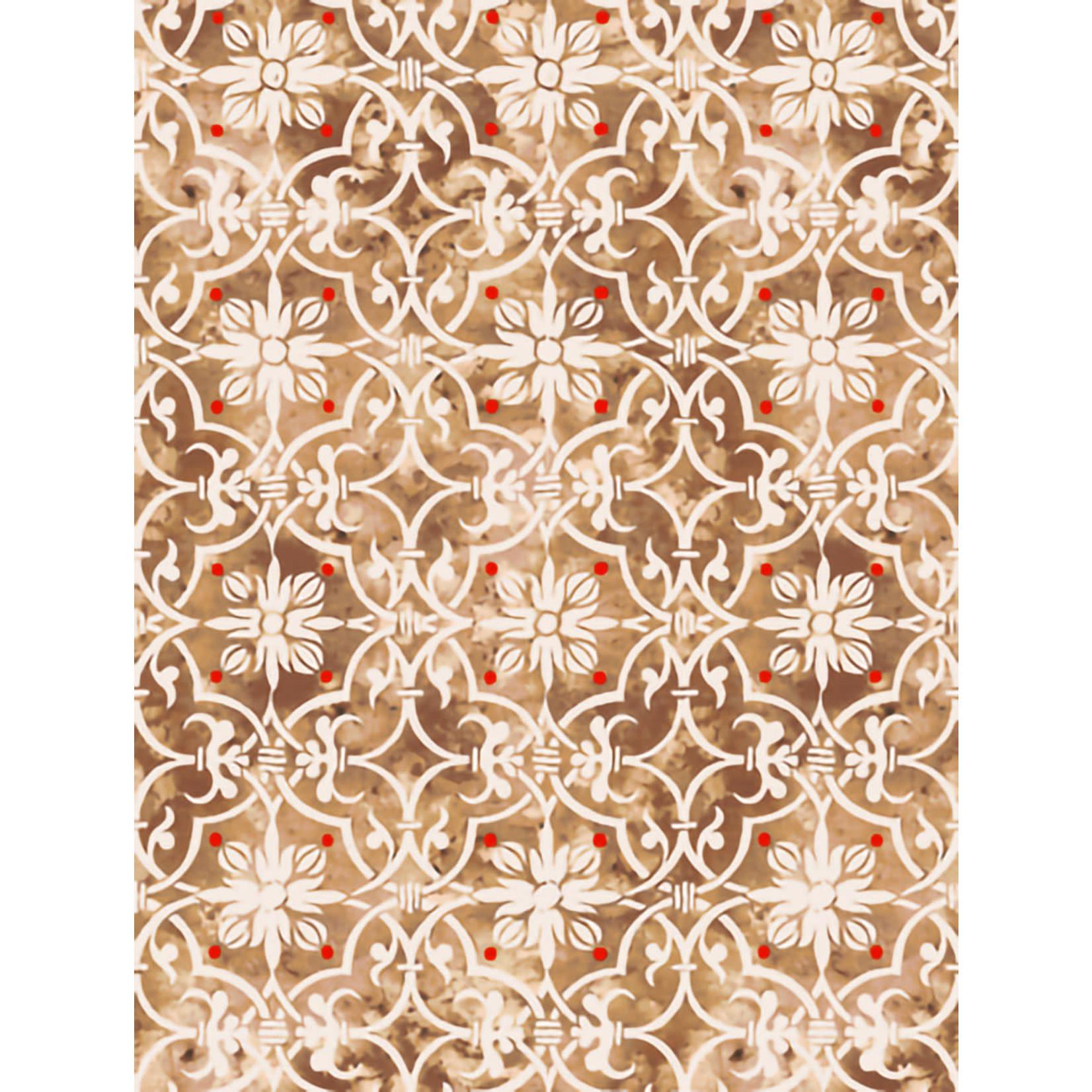 QT Fabrics Lake Caribou - Medaillon - Bruin
