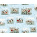 QT Fabrics Lake Caribou - Nordic Deer - Blue