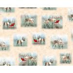 QT Fabrics Lake Caribou - Nordic Deer - Creme