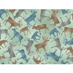 QT Fabrics Lake Caribou - Silhouettes - Mint