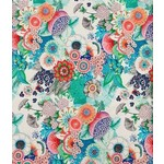 QT Fabrics Mika - Floral - White