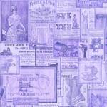 QT Fabrics Tailor Made - Vintage Patches - Purple