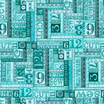 QT Fabrics Tailor Made - Numbers Patches - Green