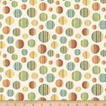 QT Fabrics Toyland - Circles - Cream