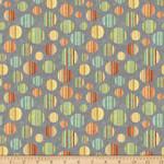 QT Fabrics Toyland - Circles - Grey