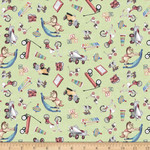 QT Fabrics Toyland - Toy Toss - Green