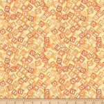 QT Fabrics Toyland - Wooden Blocks - Orange