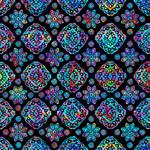 QT Fabrics Zanzibar - Geo - Black