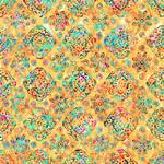 QT Fabrics Zanzibar - Geo - Yellow