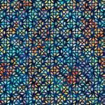QT Fabrics Zanzibar - Tiles - Dark Blue