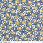 Riley Blake Designs Delightful - Hearts - Blue