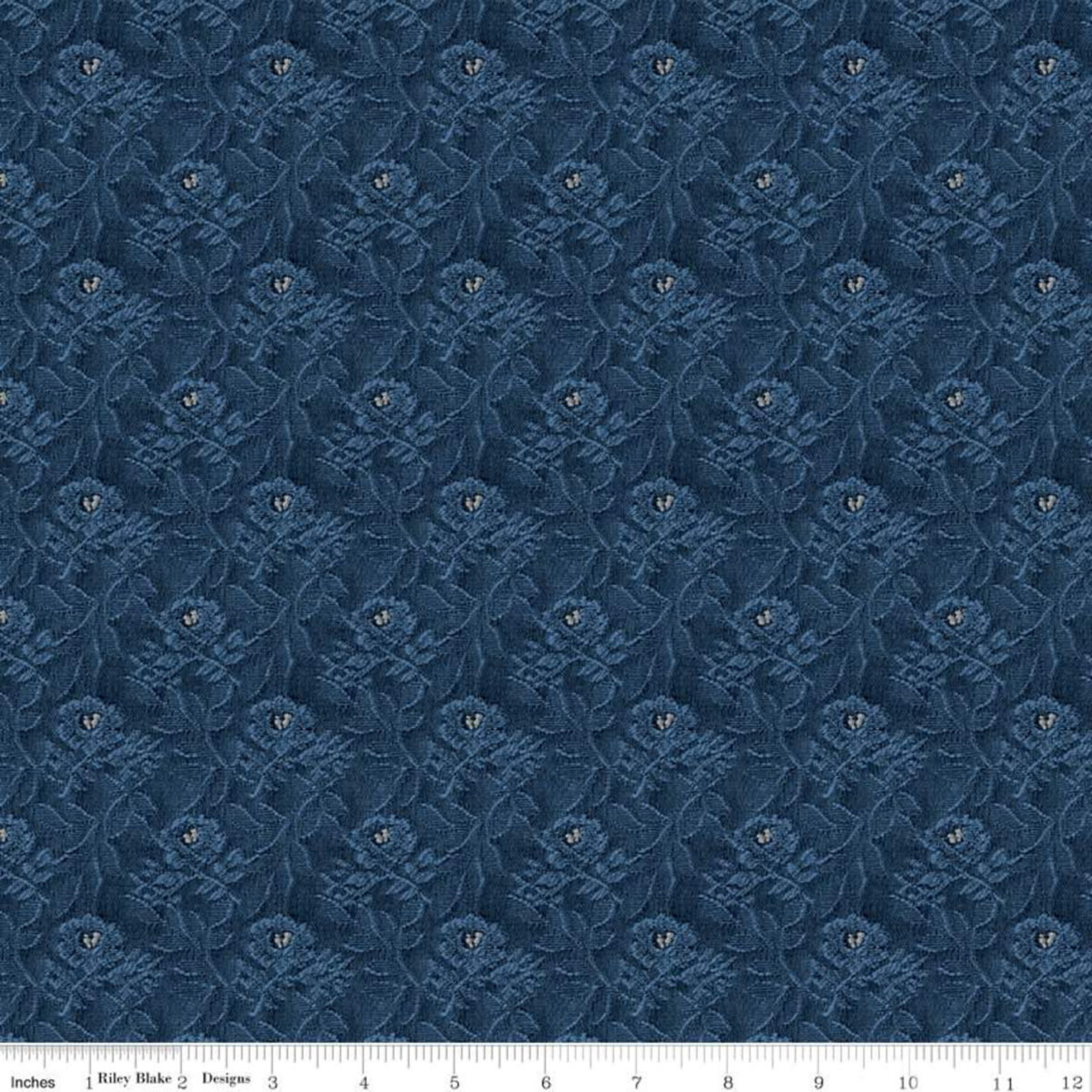Riley Blake Designs Delightful - Tapestry - Navy