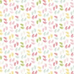Riley Blake Designs Sweet Baby Girl - Baby Feet - White