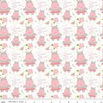 Riley Blake Designs Sweet Baby Girl - Hippos - White