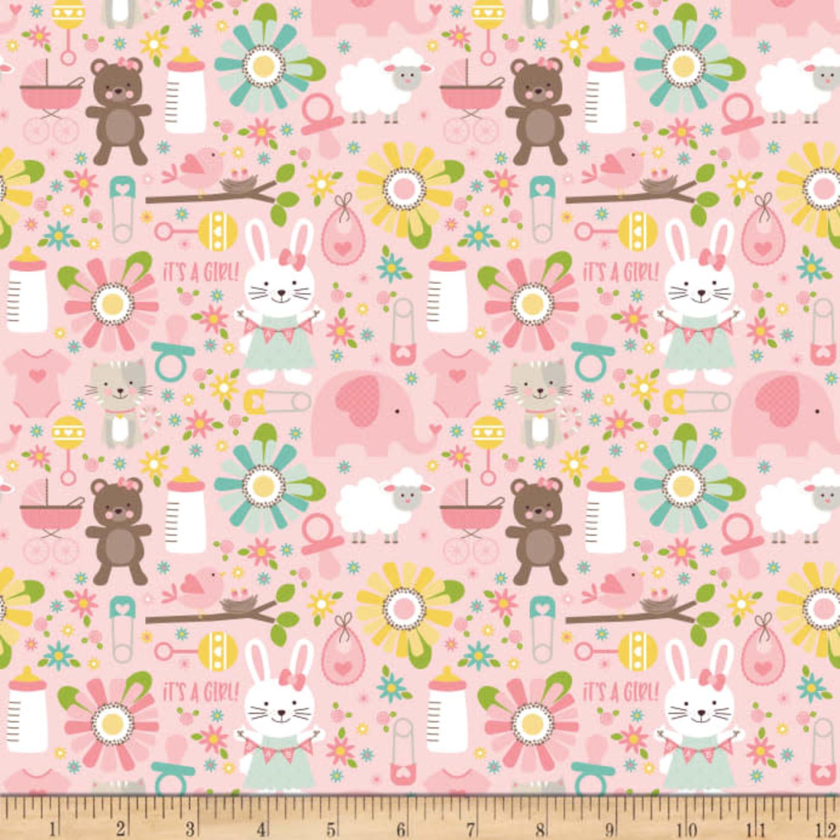 Riley Blake Designs Sweet Baby Girl - Main - Pink