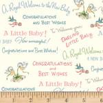 Riley Blake Designs Washington Street - Welcome Baby - Cream