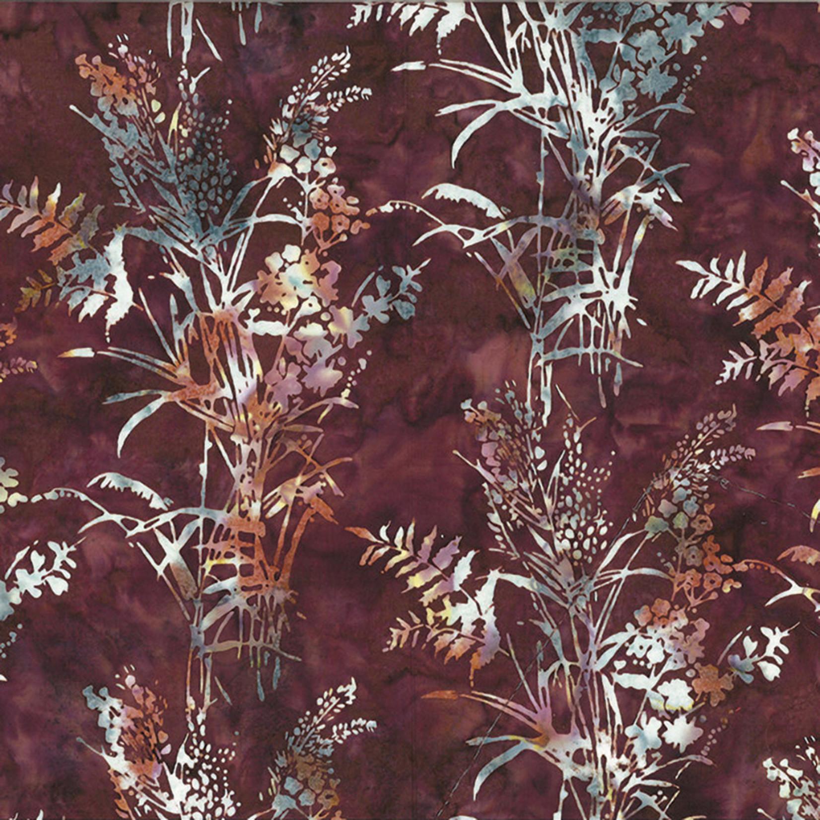 Hoffman Fabrics Bali Batik Bouquet - Walnut