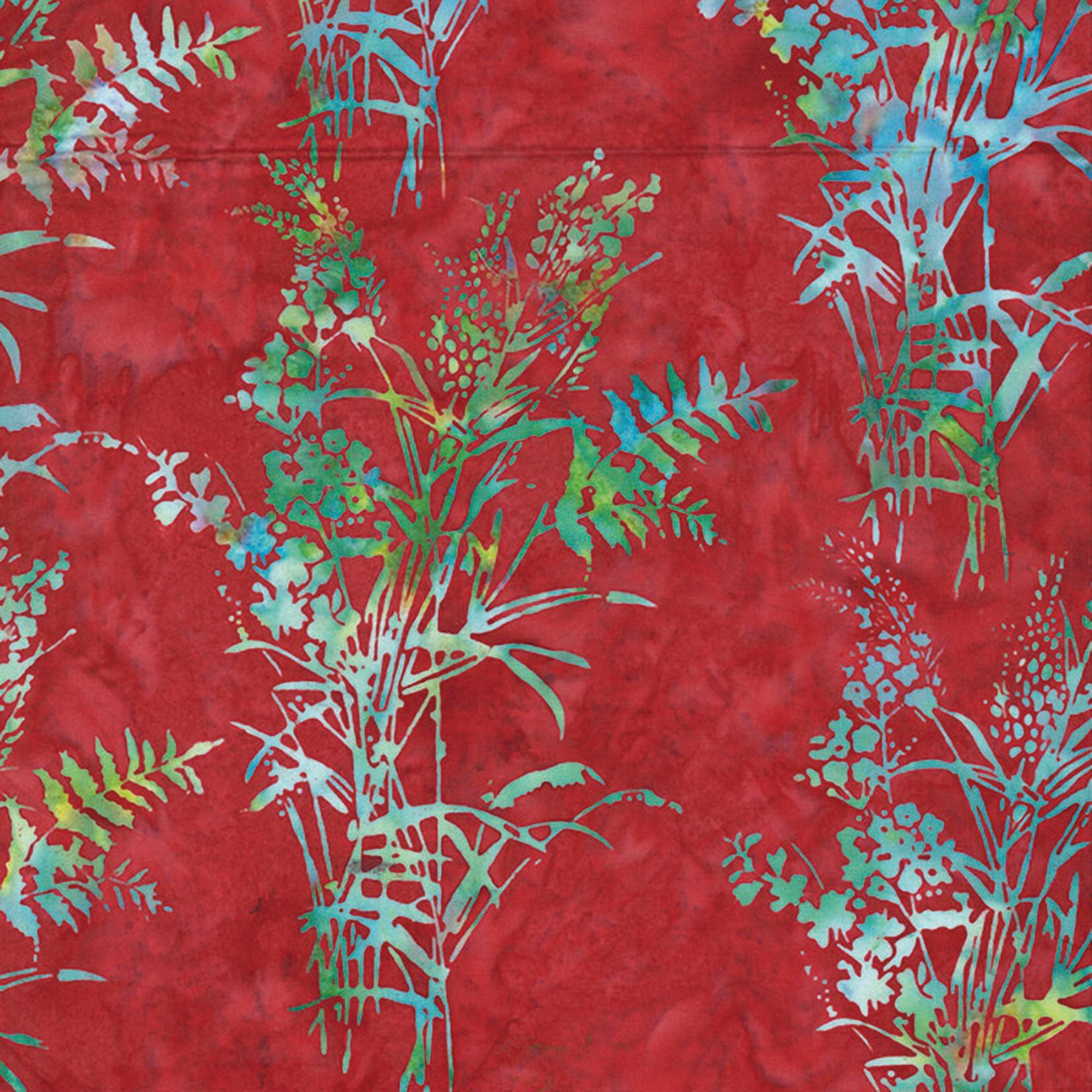 Hoffman Fabrics Bali Batik Bouquet - Cherry