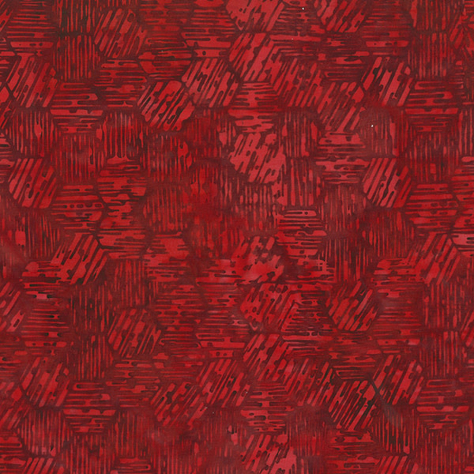 Hoffman Fabrics Bali Batik Maze - Scarlet