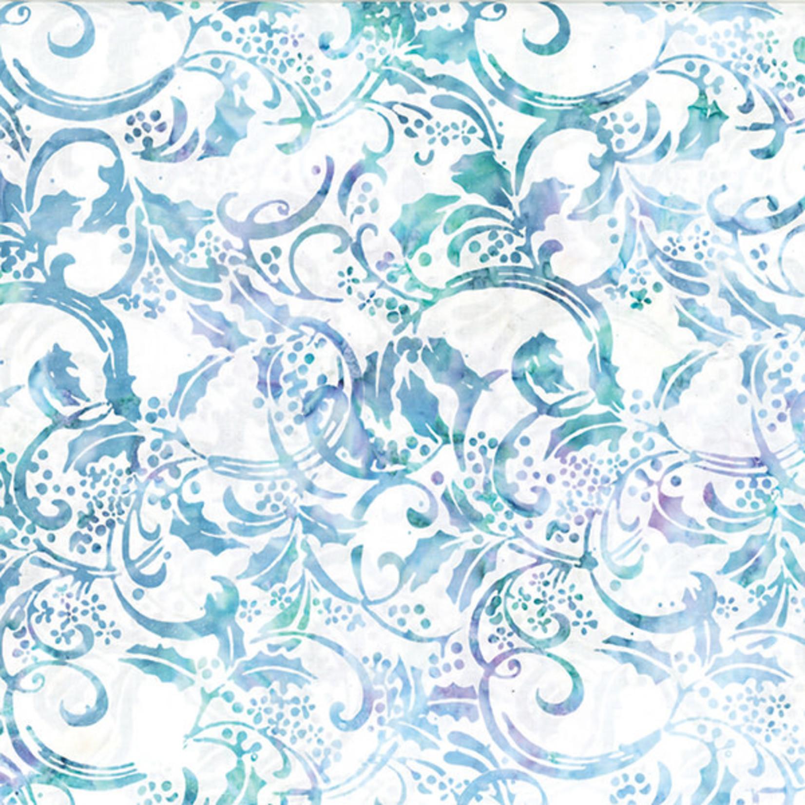 Hoffman Fabrics Bali Batik Holly Leaves - Aurora