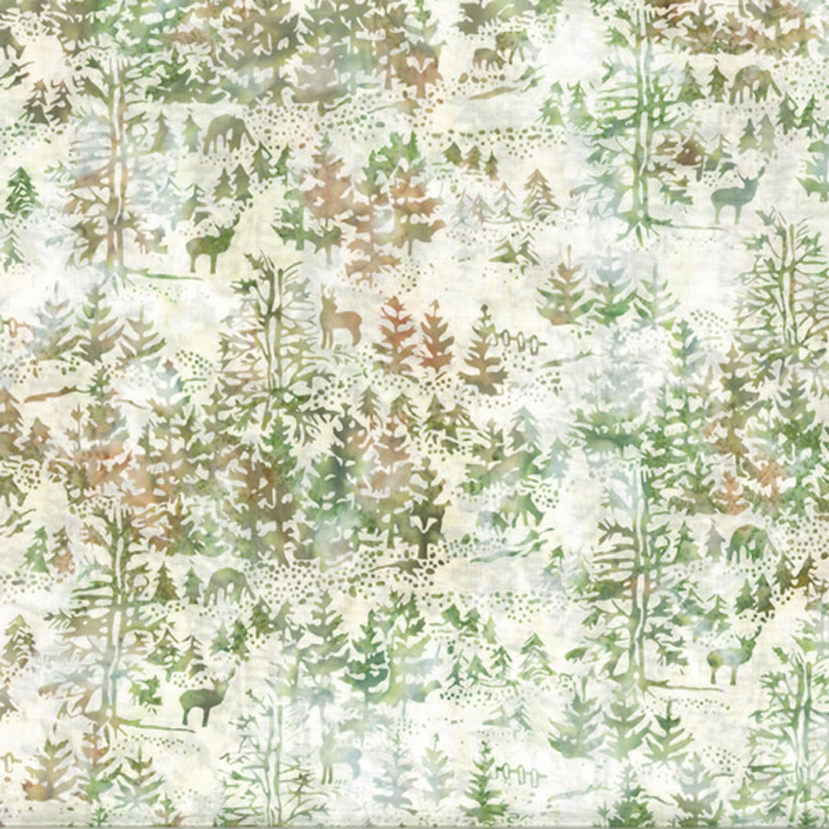 Hoffman Fabrics Bali Batik Deer & Tree - Patty