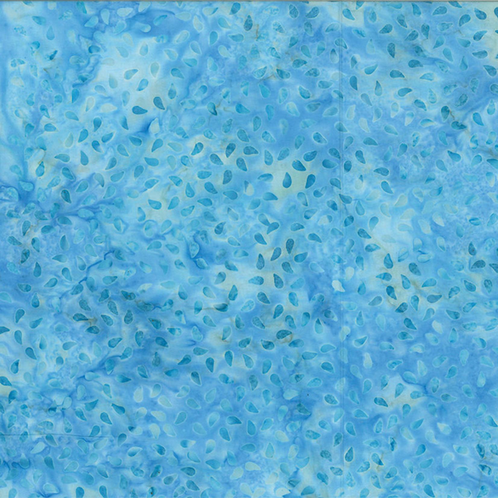 Hoffman Fabrics Bali Batik Raindrops - Sky