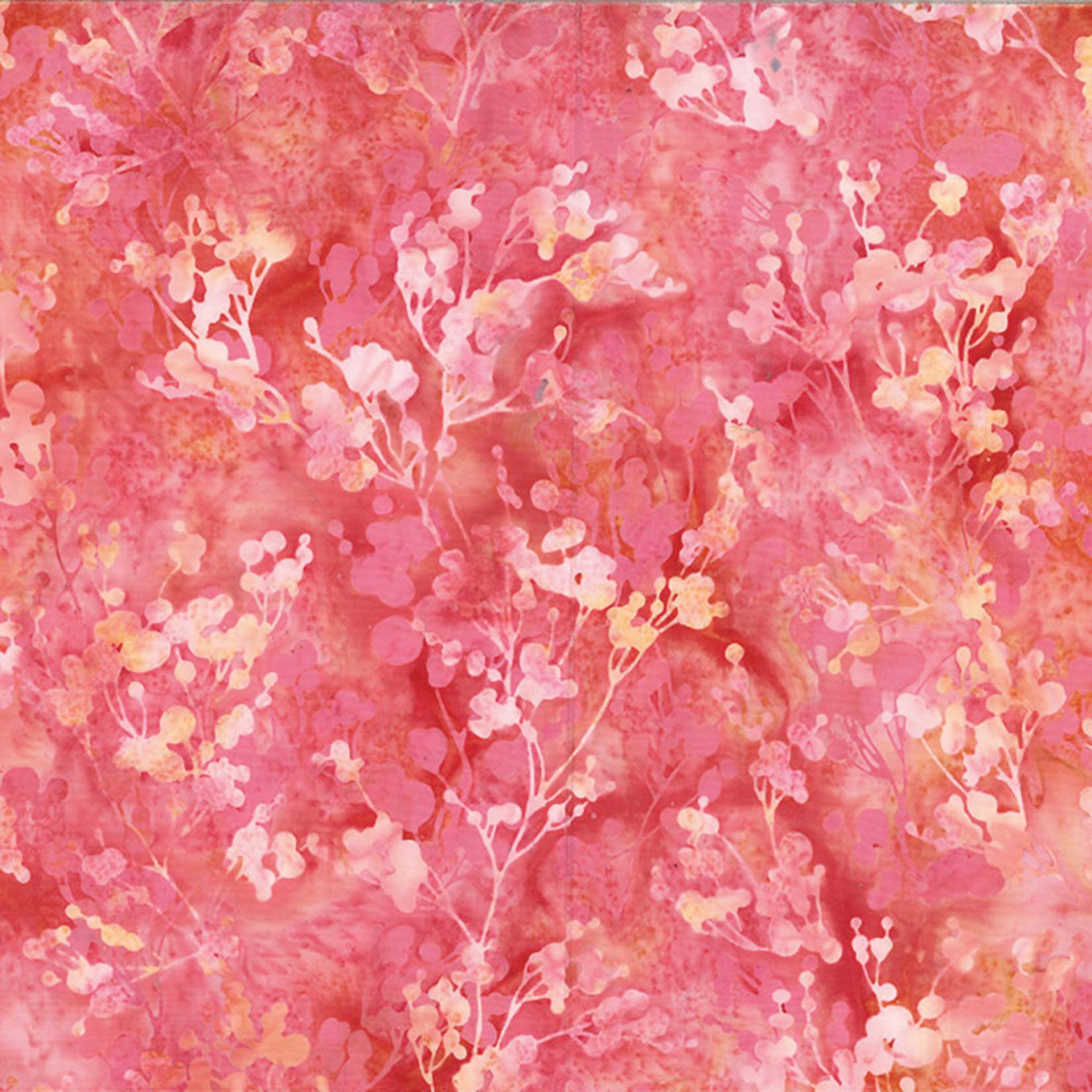 Hoffman Fabrics Bali Batik Tossed Branches - Pink