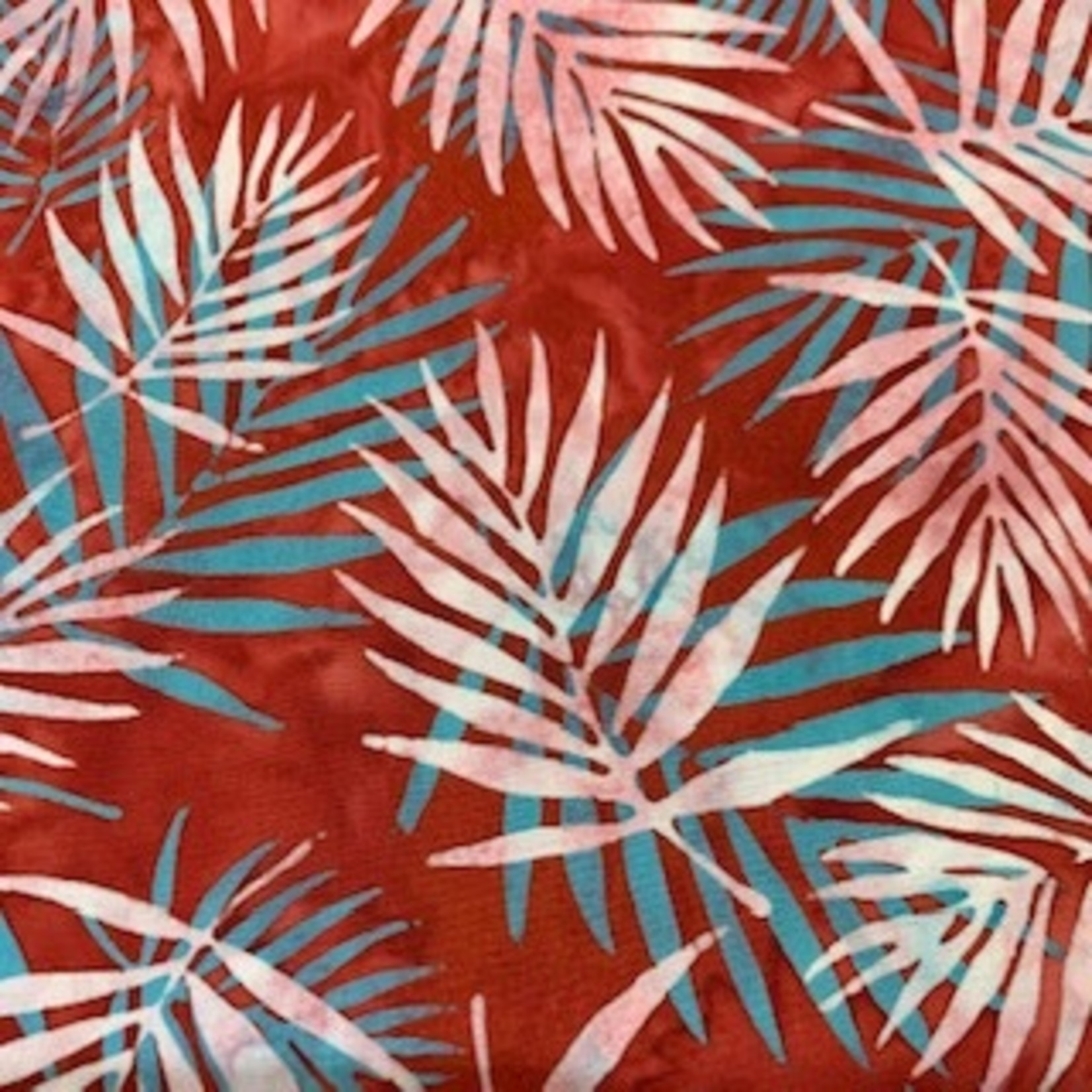Hoffman Fabrics Bali Batik Palm Leaves - Red