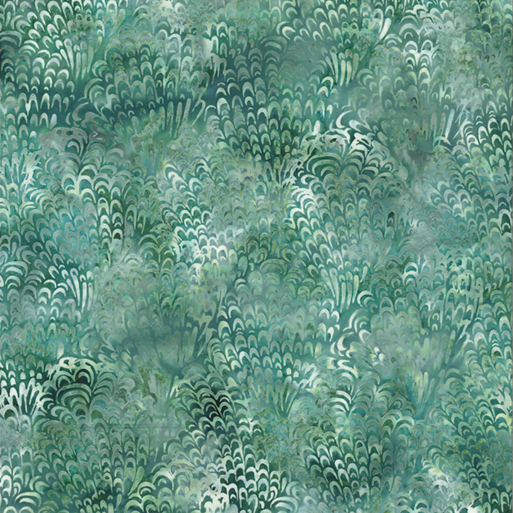 Hoffman Fabrics Bali Batik Peacock - Seagrass