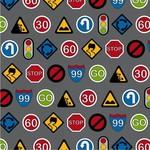 RJR Traffic Jam - Traffic Signs - Grey